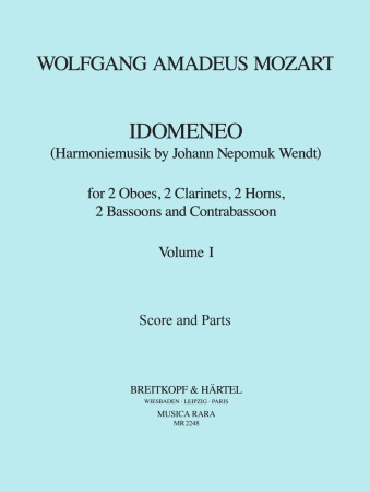 IDOMENEO Volume 1 (score & parts)