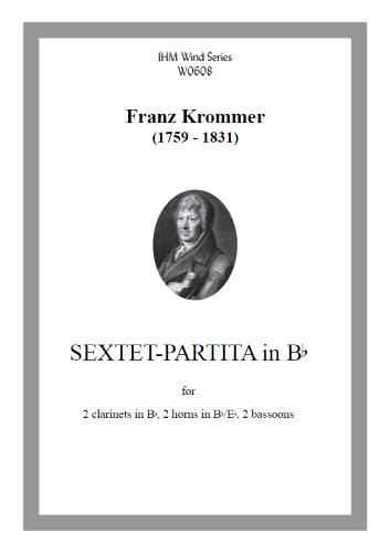 SEXTET-PARTITA in Bb major (score & parts)