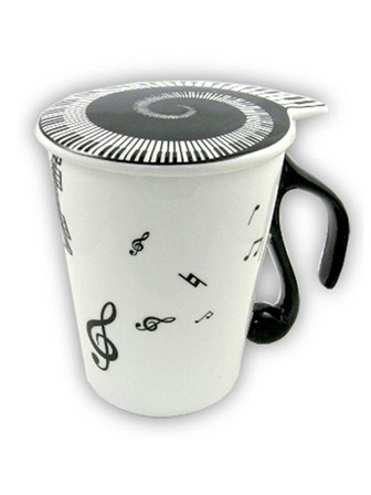 MUG AND LID Music Notes (Pack of 4)