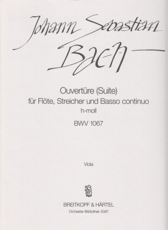 OVERTURE (Suite) in B minor BWV1067 viola part