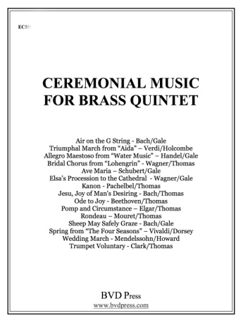CEREMONIAL MUSIC for Brass Quintet Trombone (alt. to Horn)