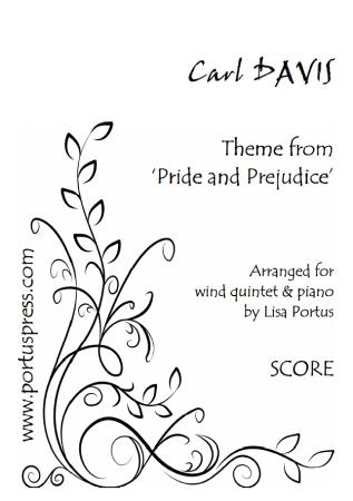 THEME from Pride and Prejudice (score & parts)