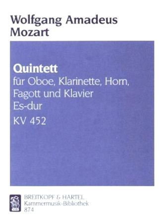 QUINTET IN Eb major K452 score and parts