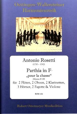 "PARTHIA in F major 'Pour la chasse"" RWV B18 score & parts"