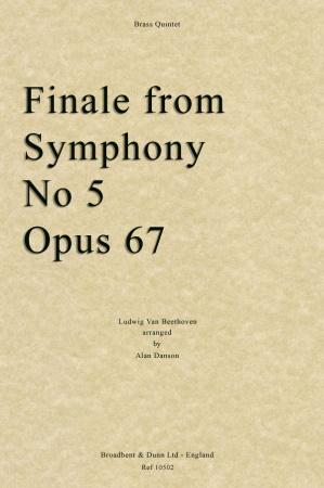 Finale from Symphony No.5, Op.67 (score & parts)
