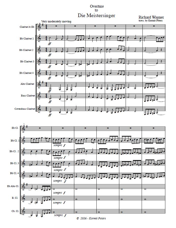 DIE MEISTERSINGER Overture (score & parts)