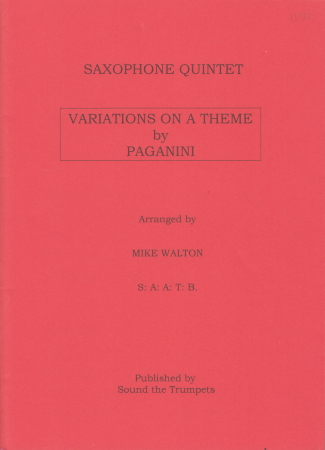 VARIATIONS ON A THEME BY PAGANINI score & parts