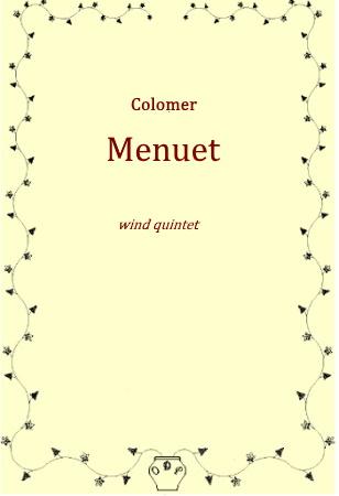 MENUET (score & parts)