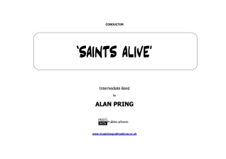 SAINTS ALIVE (score & parts)