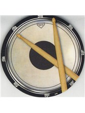 DRINKS COASTER Circular Drum Practice Pad