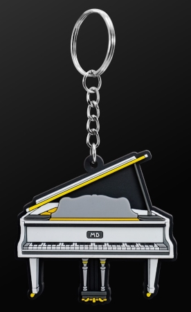 INSTRUMENT KEYRING Grand Piano (White)