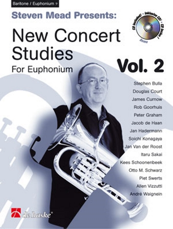 NEW CONCERT STUDIES for Euphonium Volume 2 + CD (treble clef)