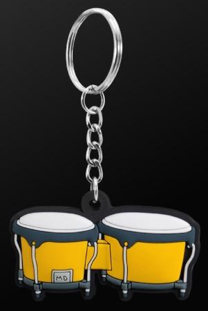 INSTRUMENT KEYRING Bongo (Yellow)