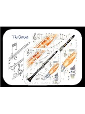 PLACEMAT AND COASTER SET Clarinet