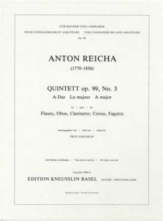QUINTET in A major Op.91 No.5 set of parts only