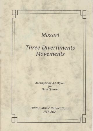 THREE DIVERTIMENTO MOVEMENTS (score & parts)