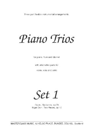 MASTERCLASS PIANO TRIOS Set 1