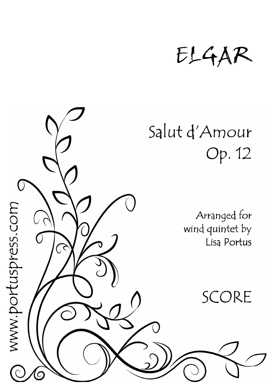 SALUT D'AMOUR Op.12 (score & parts)