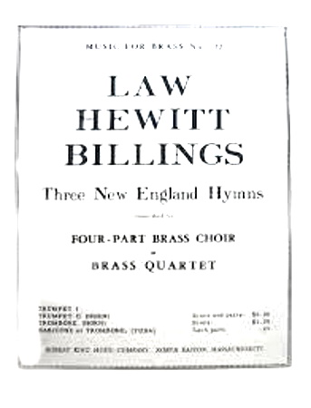 3 NEW ENGLAND HYMNS