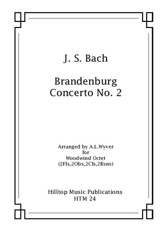 BRANDENBURG CONCERTO No.2 (score & parts)
