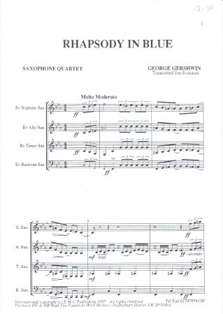RHAPSODY IN BLUE (shortened transcription)