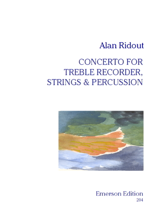 CONCERTO FOR TREBLE RECORDER score