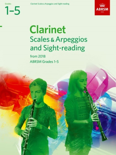 CLARINET SCALES & ARPEGGIOS AND SIGHT-READING PACK Grade 1-5 (from 2018)
