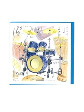 NOTELETS Drum Design (Pack of 5)