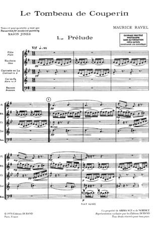 LE TOMBEAU DE COUPERIN (score)