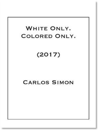 WHITE ONLY. COLORED ONLY. (score & parts)