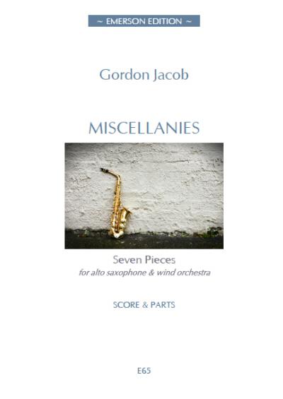 MISCELLANIES (score & parts)