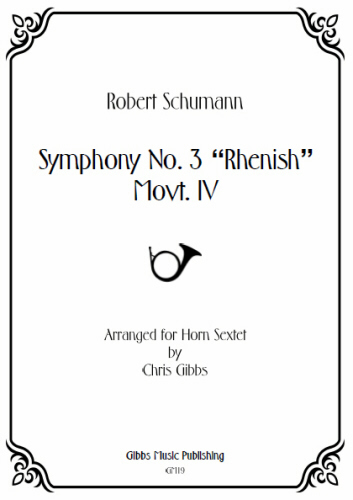 SYMPHONY No.3 'Rhenish', 4th Movement (score & parts)