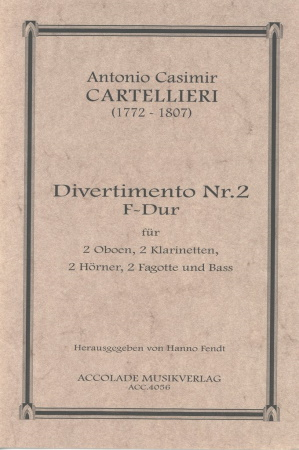 DIVERTIMENTO No.2 in F major score & parts