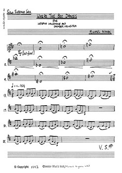 WHERE THE BEE DANCES Soprano Saxophone part
