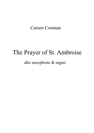 THE PRAYER OF SAINT AMBROISE