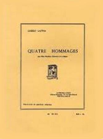 QUATRE HOMMAGES (score & parts)