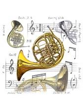 FRIDGE MAGNET French Horn