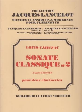 SONATE CLASSIQUE No.2 d'apres Gebauer