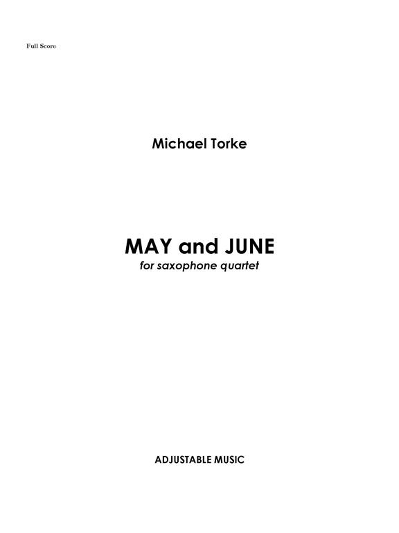 MAY AND JUNE (score & parts)