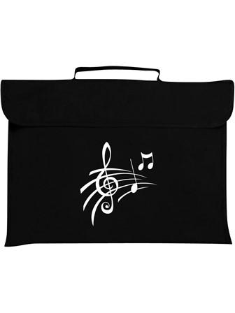 MUSIC BAG Treble Clef & Notes (Black)