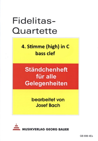 FIDELITAS QUARTETTE Part 4 (high) in C bass clef