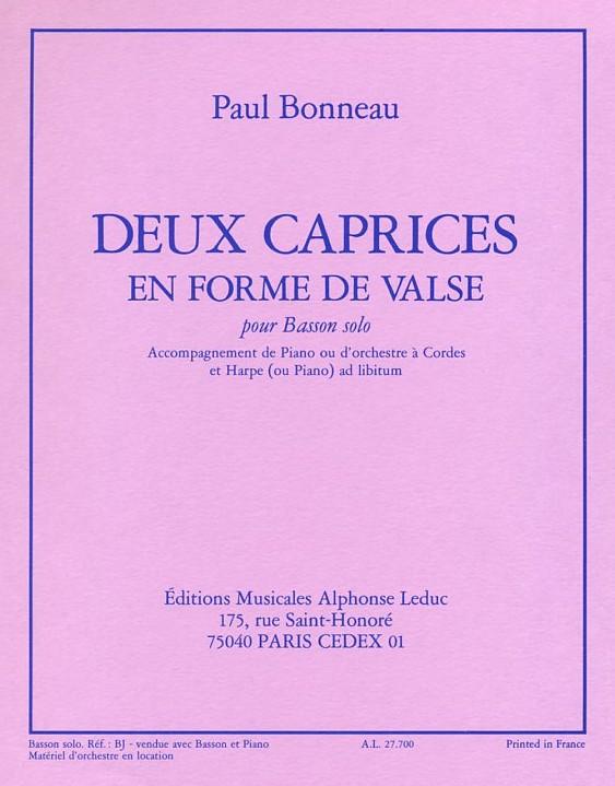 DEUX CAPRICES EN FORME DE VALSE