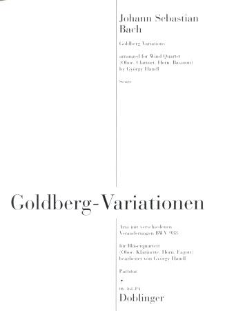 GOLDBERG VARIATIONS (set of parts)