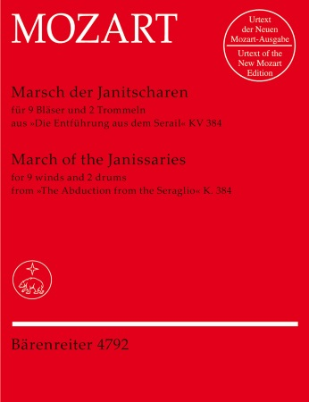 MARCH OF THE JANISSARIES (score & parts)