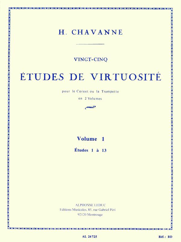 25 ETUDES DE VIRTUOSITE Volume 1