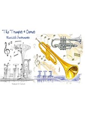 GREETINGS CARD Trumpet Design (7in x 5in)
