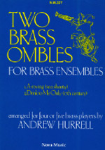 TWO BRASS OMBLES