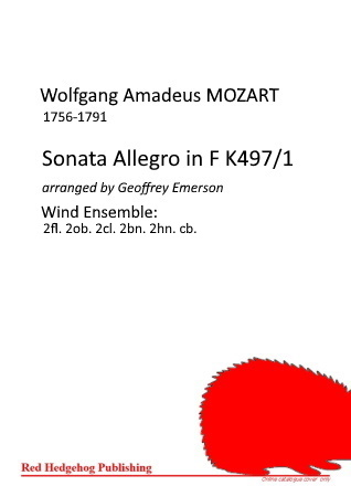 SONATA ALLEGRO in F K497/I