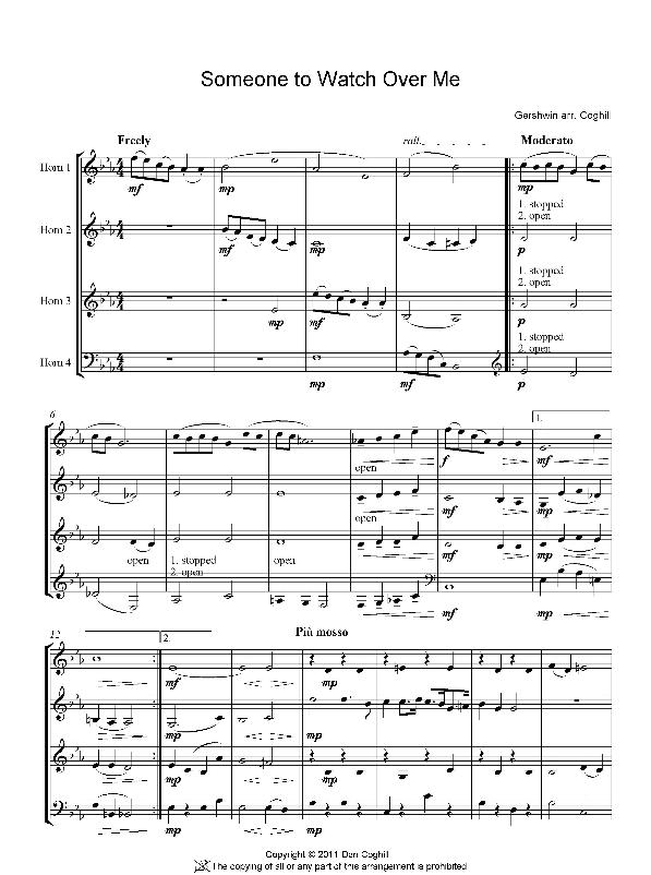 SOMEONE TO WATCH OVER ME (score & parts)
