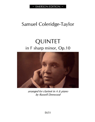 QUINTET in F sharp minor Op.10 - Digital Edition